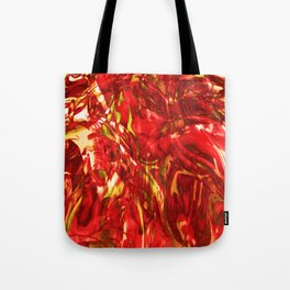 Fluid Painting (Red Version) Tote Bag