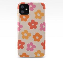 Retro 60s 70s Flowers Pattern #pattern #vintage iPhone Case