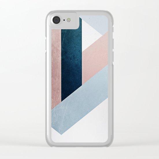 Complex Triangle Clear iPhone Case