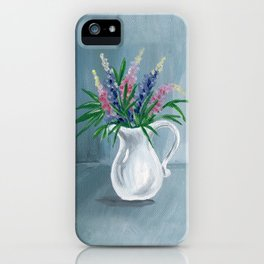 Pitcher of Lupins iPhone Case