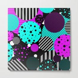 Circles, Bubbles And Stripes Metal Print