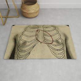 Red heart. Rug