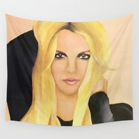 britney Wall Tapestries featuring BRITNEY SPEARS  .- BRITNEY JEAN  by Alfonso Aranda