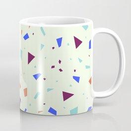 Vibrant Pastel Terrazzo - Blue and Orange Speckle Marble Granite Pattern Coffee Mug