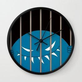 Evil Monster Kingpin Jailed v2 Wall Clock