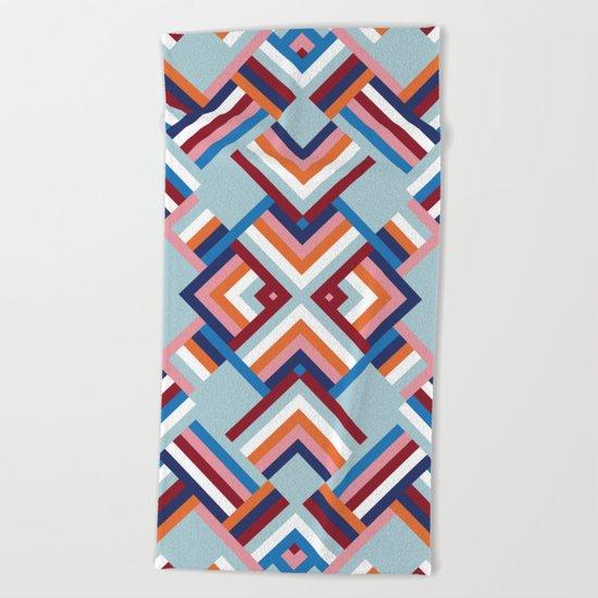 Herringbone Pattern No.2 Beach Towel