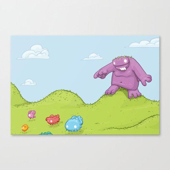 Marshmallow Hunting Canvas Print