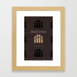 Film Friday No. 1, Blood Simple Framed Art Print