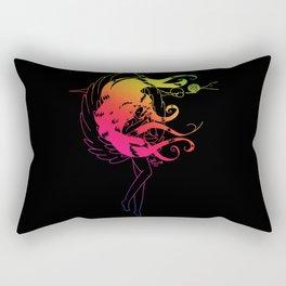 Rainbow Naraku - Black Rectangular Pillow