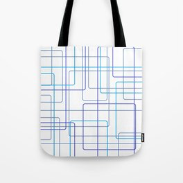 Blue Line Pattern Tote Bag