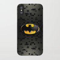 bat man iPhone & iPod Cases featuring BAT MAN by BeautyArtGalery