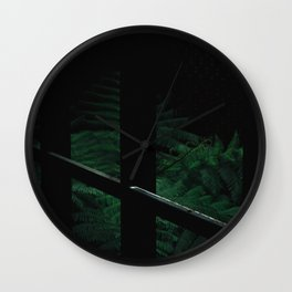 Secret Dark Japanese Garden Wall Clock