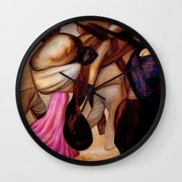 Classical Masterpiece The Soldaderas (Las soldaderas) by José Clemente Orozco Wall Clock