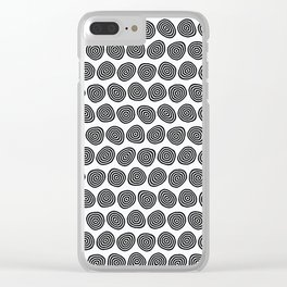Wobbly Pattern Clear iPhone Case