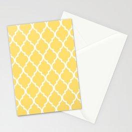 Classic Quatrefoil Lattice Pattern 731 Yellow Stationery Cards