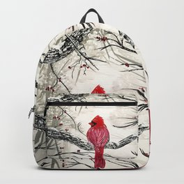 Red Robins Winter Backpack