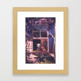 in the summer Framed Art Print