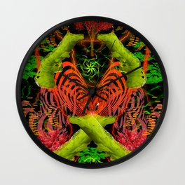 Caterpillar Love Meetup Wall Clock