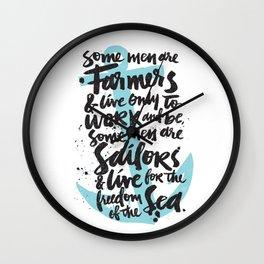 SAILORS Wall Clock