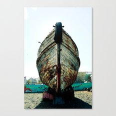 The Old Boat in the Harbor Canvas Print