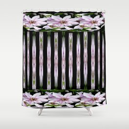 Pink Stars and Stripes Shower Curtain