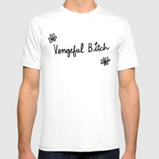 Vengeful Bitch Aesthetics Mens Fitted Tee White 2X-LARGE