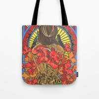 rush Tote Bags featuring Rush by Carol Wellart