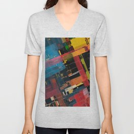 Abstract Composition 608 Unisex V-Neck
