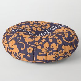 """""""buy the ticket, take the ride."""" - Hunter S. Thompson (Navy Blue) Floor Pillow"""