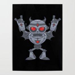 Metalhead - Heavy Metal Robot Devil Poster