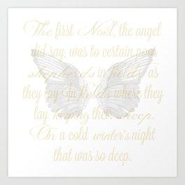 The First Noel angel wings Art Print