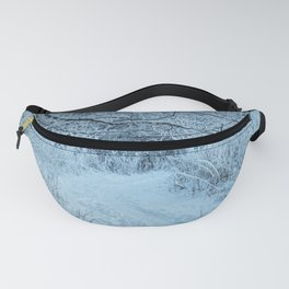 Follow the snowy path in to the forest Fanny Pack