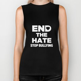 End The Hate With Heart Stop Bullying Awareness Biker Tank
