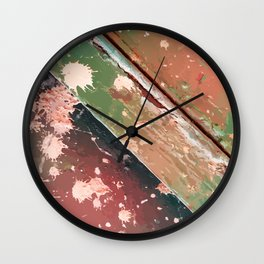 Texture 10. Red & Green Wall Clock