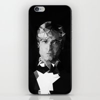 brad pitt iPhone & iPod Skins featuring BRAD by THE USUAL DESIGNERS