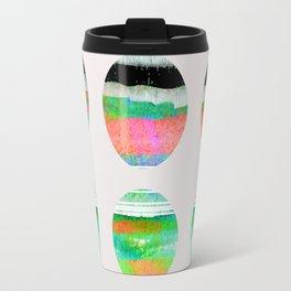 colorful circles pattern design Travel Mug