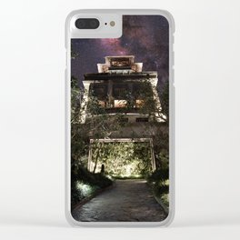 Bali Temple Milky Way Clear iPhone Case
