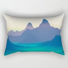 Green Valley Landscape Rectangular Pillow