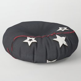 Stars on a Red Rope (Color) Floor Pillow