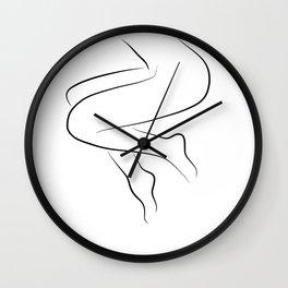 Woman's Legs Line Drawing - Leggy Lara Wall Clock