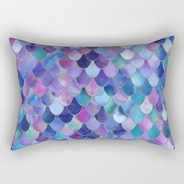 Mermaid Art, Purple, Pink, Teal, Blue, Green Rectangular Pillow