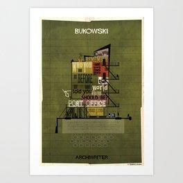 06_ARCHIWRITER_charles bukowski Art Print