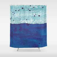 water color Shower Curtains featuring Water and Color 4 by Dream Of Forest
