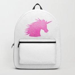 Pink Glitter Unicorn Backpack