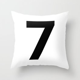Number 7 (Black & White) Throw Pillow