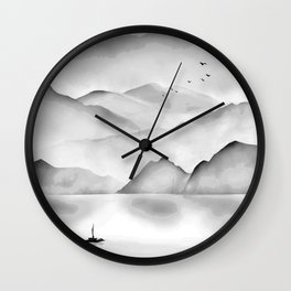 Japanese Landscape Painting Wall Clock