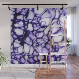 Purple hite Flow Cells Wall Mural