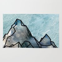 mountain Area & Throw Rugs featuring Mountain by madbiffymorghulis