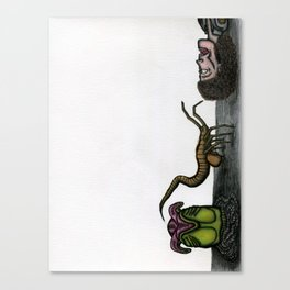 The Face Hugger Approaches Canvas Print