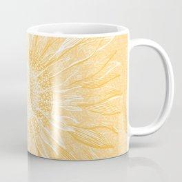 Mandala, Sunflower Prints, Yellow Coffee Mug